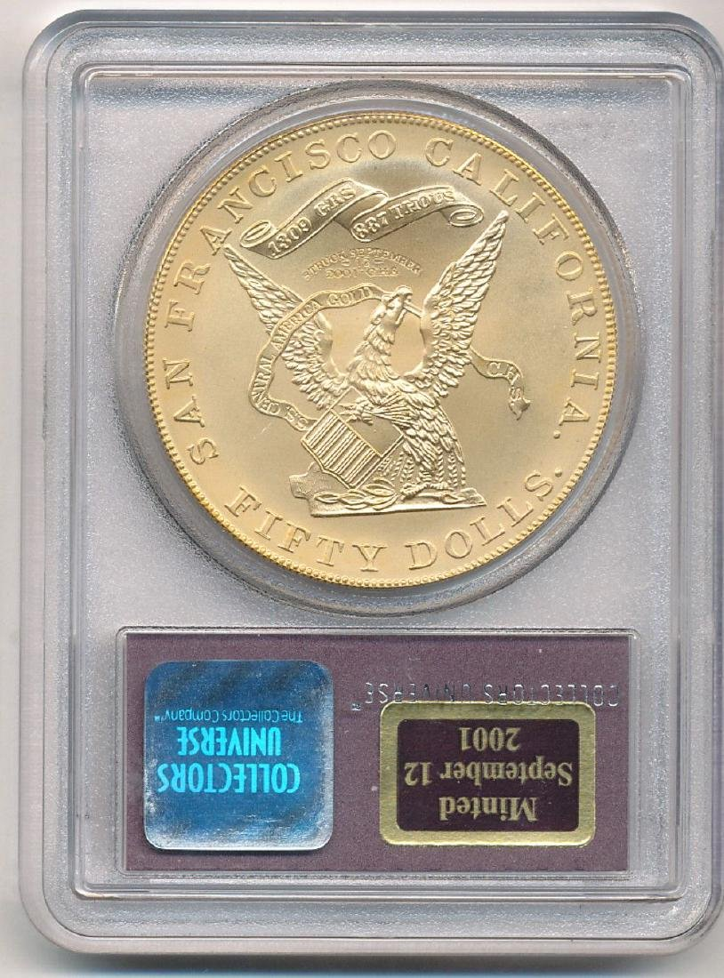1855 Kellogg $50 Restrike SS Central America Gold - 2