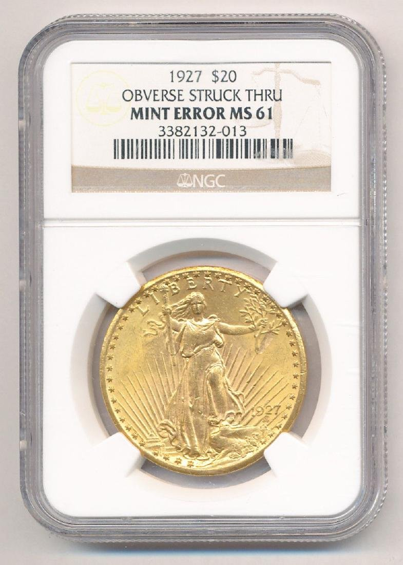 MINT ERROR $20 Gold St. Gaudens Must See to Believe!