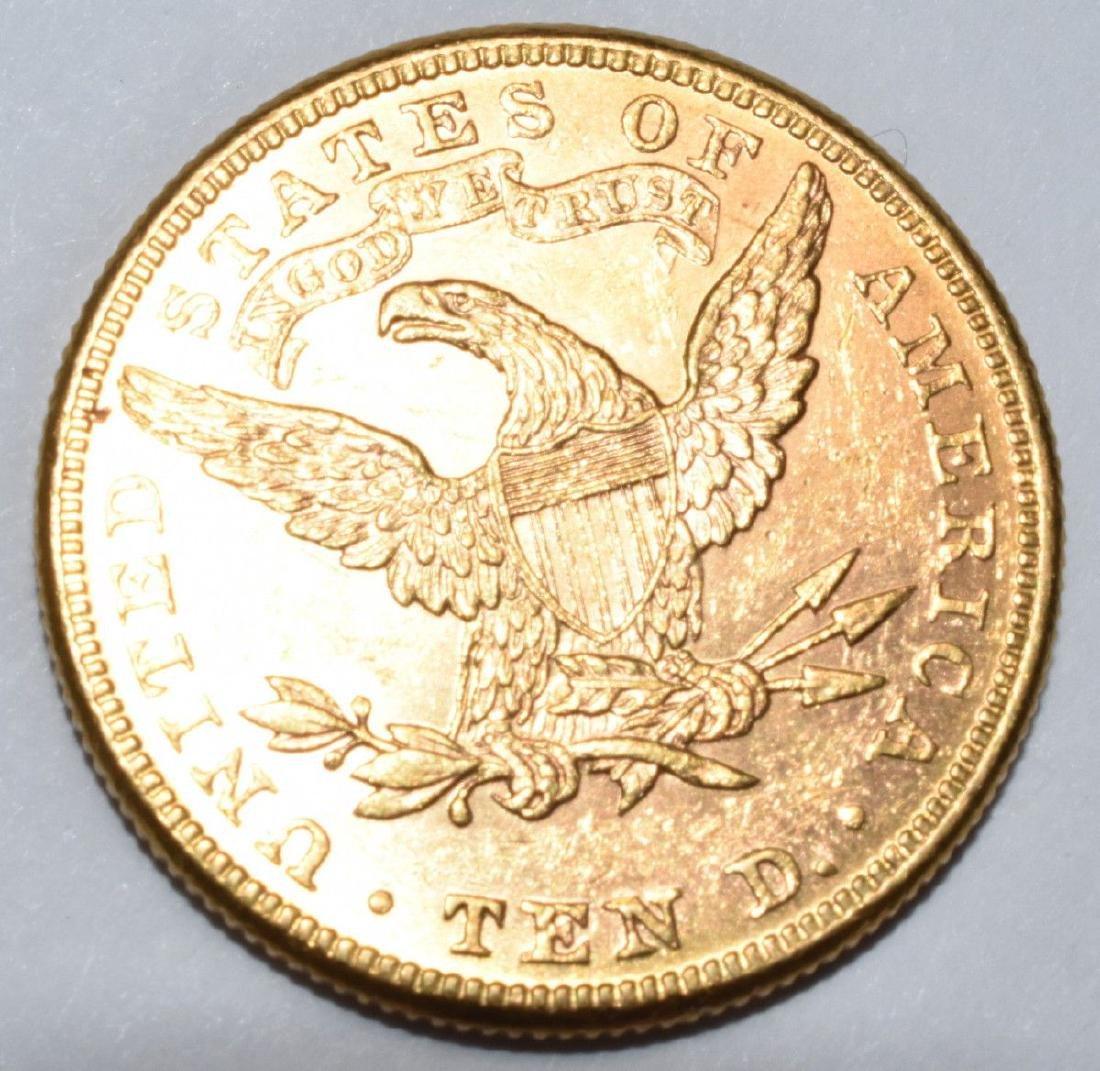 1882 $10 Gold Liberty MS62+ PL - 2