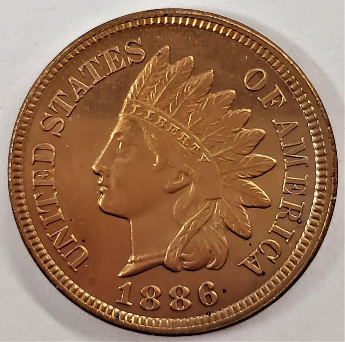 RARE Type 2 1886 Indian Head Cent PROOF66 RED