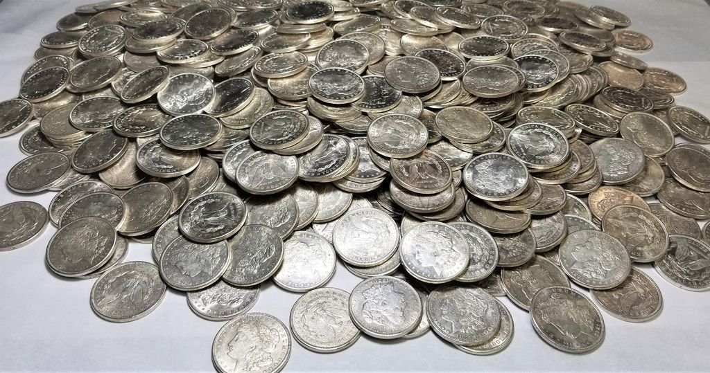 (100) 1921 Almost Mint Condition Morgan Silver Dollars