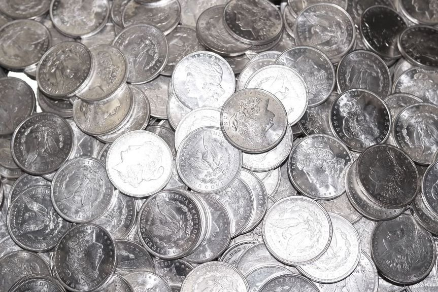 (100) 1921 Almost Mint Condition Morgan Silver Dollars - 2