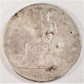 RAREST 1874-CC TRADE DOLLAR WITH CHOP MARK