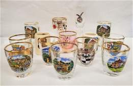 (14) FANTASTIC ASSORTED GERMAN SHOT GLASSES