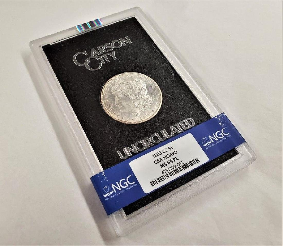 1883-CC MS65PL GSA MORGAN SILVER DOLLAR