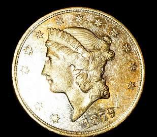 1879-S LIBERTY HEAD GOLD MS 62 PL PROOF-LIKE