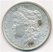 1879O MORGAN SILVER LOOKS MS63 BUT CLEANED
