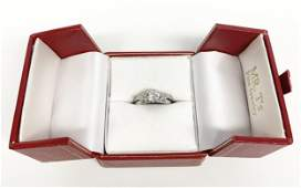 BEAUTIFUL STAMPED PLATINUM RING 60 POINT CT. DIAMOND