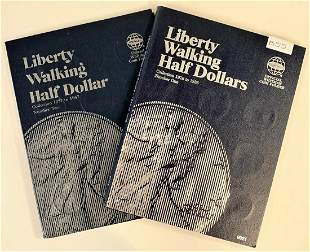 COMPLETE WALKING LIBERTY .50C SET 65 COINS