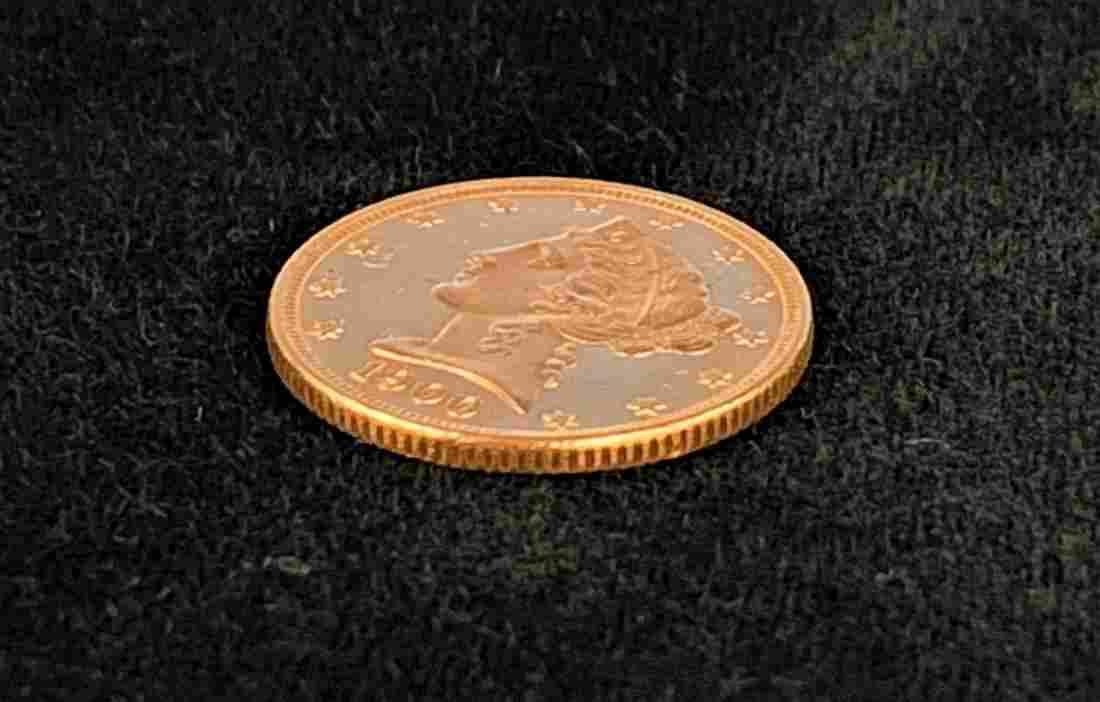 1900-P $5 LIBERTY GOLD MS63 PROOF-LIKE