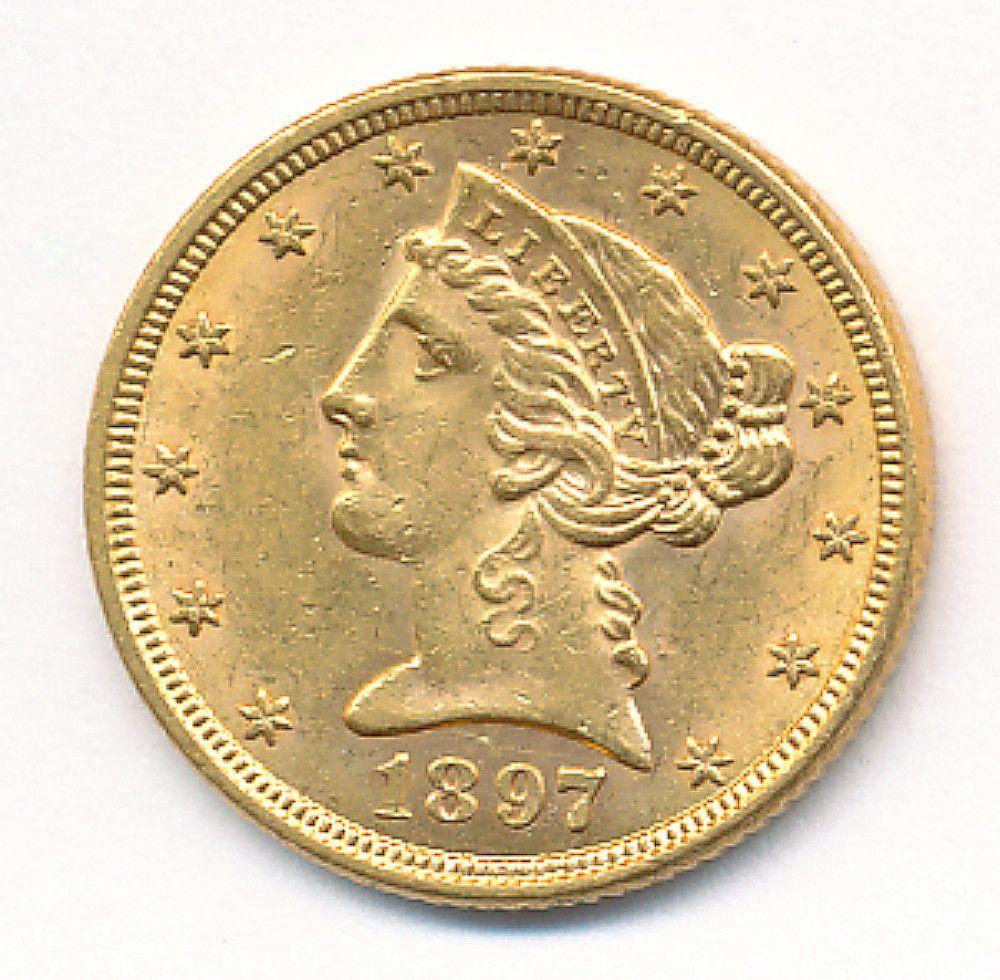 1897 MS63 $5 LIBERTY GOLD