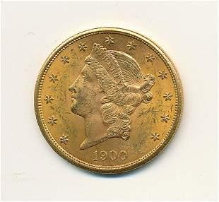 1900 $20 GOLD LIBERTY MS63