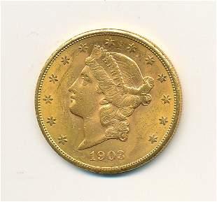 1903-S $20 GOLD LIBERTY MS63