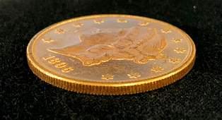1896 $20 GOLD LIBERTY PROOF-LIKE MS63
