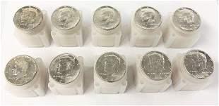 $100 FACE 1964 90% SILVER MINT CONDITION JFK 50C