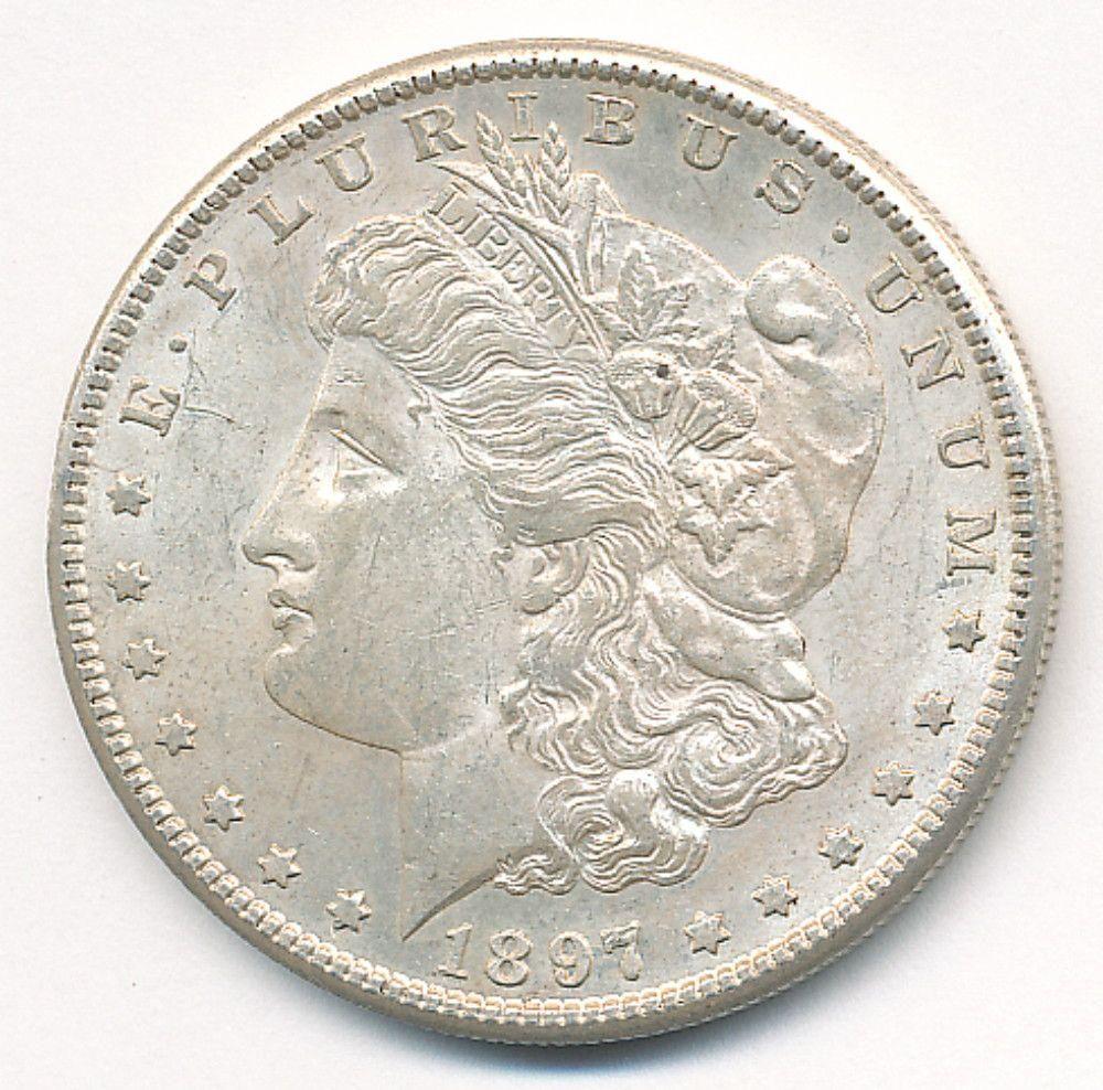 1897-S  MORGAN SILVER DOLLAR MS63