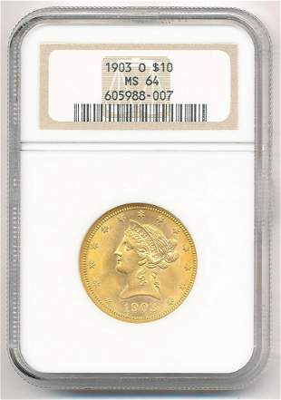 RARE DATE PREMIUM QUALITY 1903-O $10 LIBERTY GOLD NGC