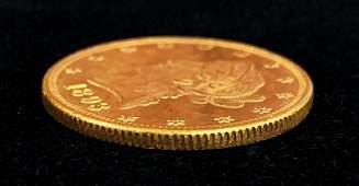 1893P 10 LIBERTY GOLD MS6364 PLSEMIPL