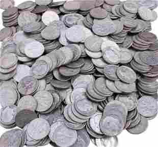$500 FACE VALUE ROOSEVELT 90% SILVER DIMES