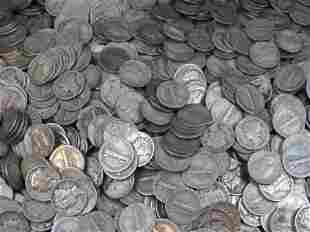 $250 FACE VALUE MERCURY 90% SILVER DIMES