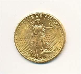 1927 $20 GOLD SAINT GAUDENS MS63