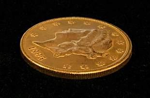 1895 $20 LIBERTY GOLD MS64 SEMI PROOF LIKE