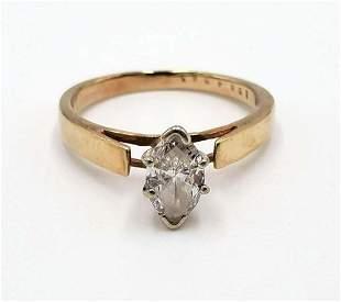 BEAUTIFUL 1 CT. WHITE MARQUISE CUT DIAMOND RING