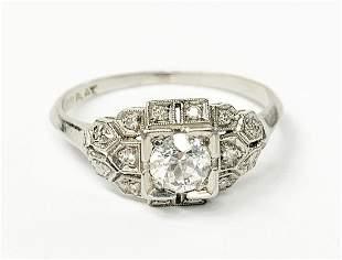 10% IRIDIUM PLATINUM DIAMOND RING