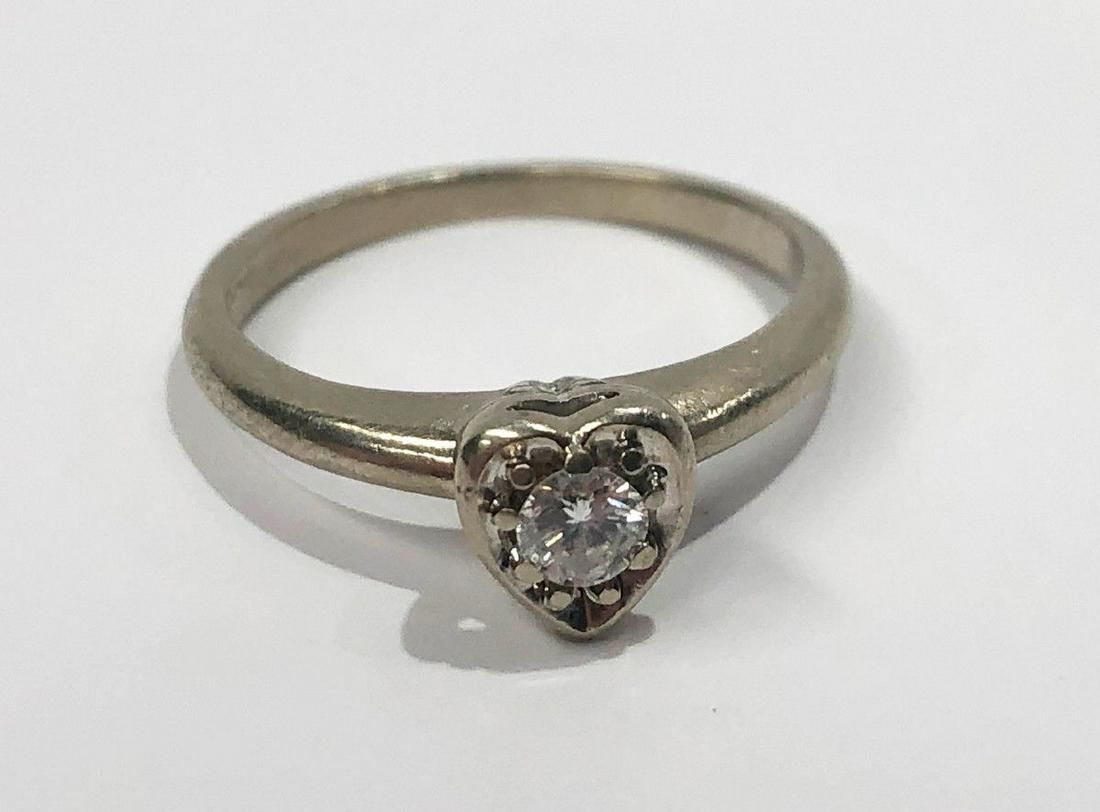 HEART 14K GOLD RING WITH 1/4 CT. DIAMOND
