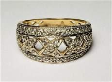 BEAUTFUL DIAMOND STUDDED GOLD 14K RING SIZE 6