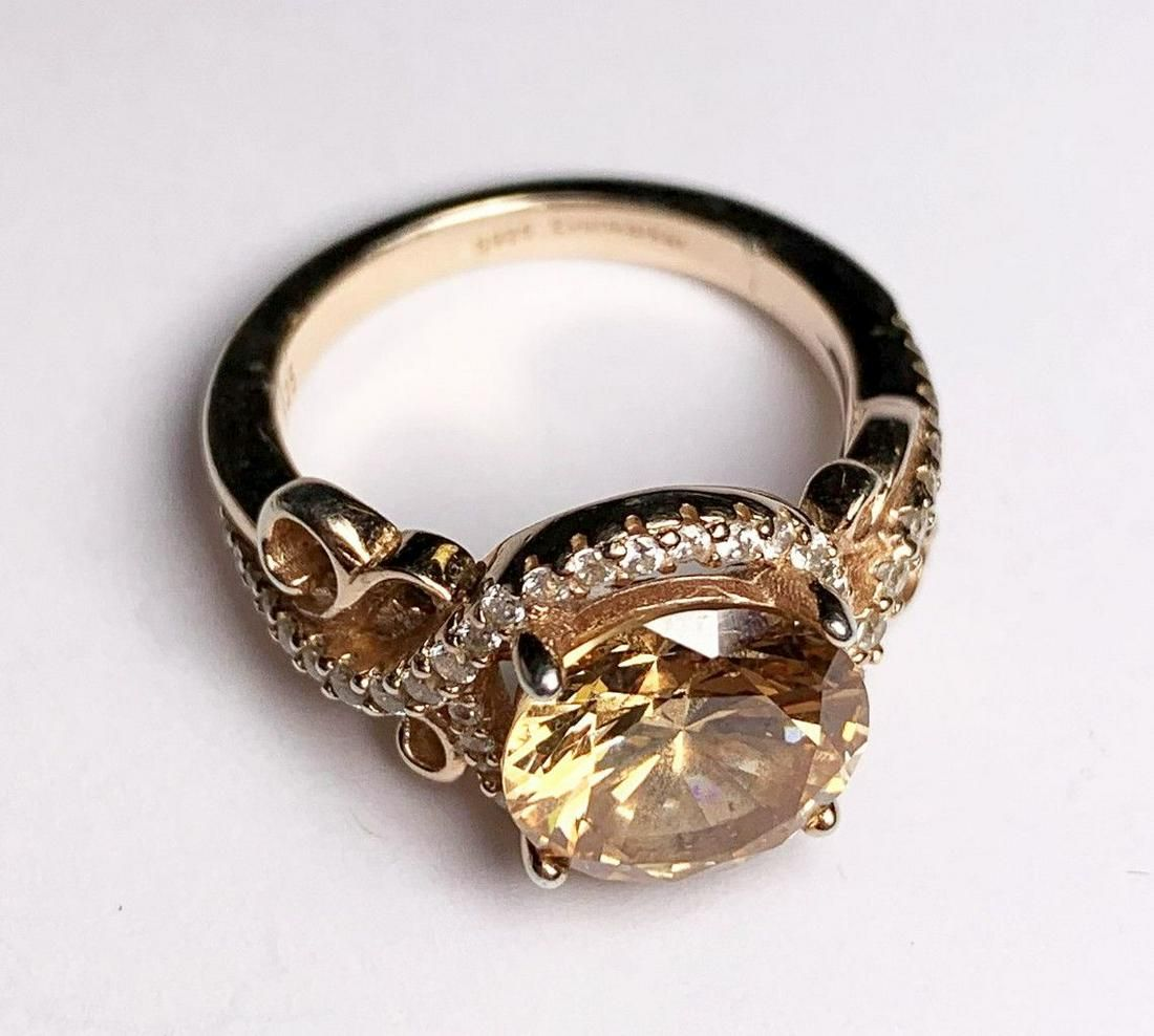 BEAUTIFUL STERLING SILVER RING WITH HUGE GEM