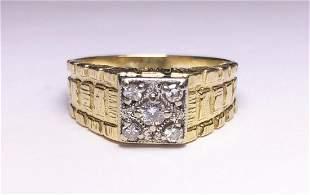 (4) PENNY WHITES 14K GOLD RING