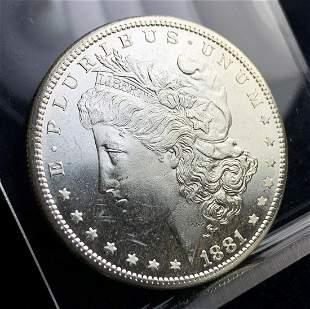 1881-S MORGAN MS64/65 PL
