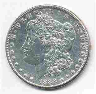 HARSHLY CLEANED 1888-S MORGAN DOLLAR XF