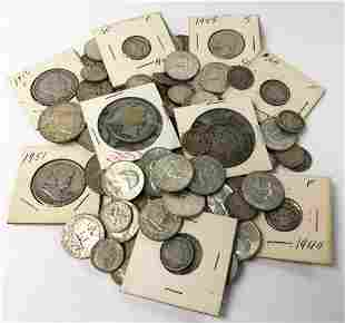$22.30 FACE VALUE (126) COINS US 90% SILVER