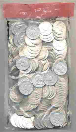 SEALED EVIDENCE BAG $100 FV SHINY FRANKLINS