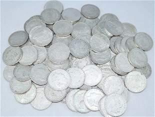 (100) CIRCULATED 1921 MORGAN SILVER DOLLARS