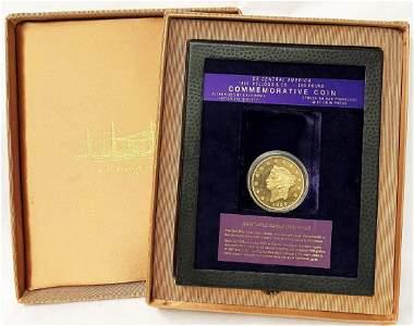SS CENTRAL AMERICAN 2.5OZ GOLD 1855 KELLOGG
