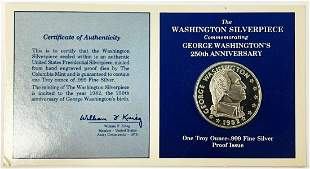 EXTREMELY RARE 1982 WASH. SILVER OZ US ASSAY