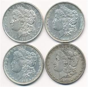 (4) 1878 MORGAN DOLLAR GROUP LOT