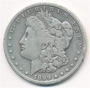 RARE DATE 1899-S VG MORGAN SILVER DOLLAR