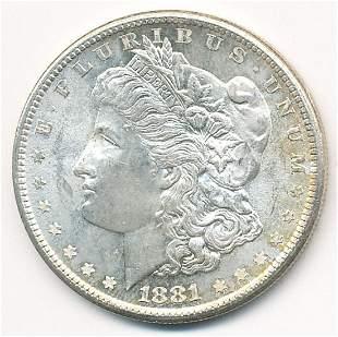 1881 SAN FRAN-S MORGAN SILVER DOLLAR MS65+