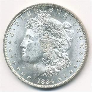 1884-O MS65+ HIGHLY LUSTROUS MORGAN DOLLAR