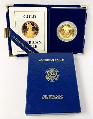PROOF 1 OZ GOLD EAGLE 1988