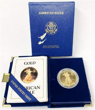 PROOF 1 OZ GOLD EAGLE 1990
