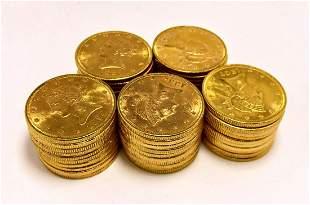 (50) FRESH FROM EUROPE $10 LIBERTY GOLD B.U.
