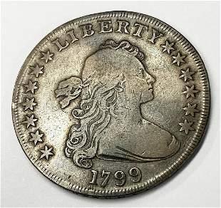 1799 DRAPED BUST SILVER DOLLAR FINE