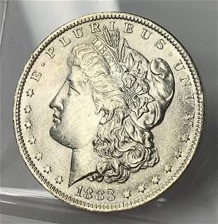 1883-O MS63 MORGAN SILVER DOLLAR