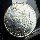 1881S MORGAN SILVER DOLLAR MS64 PROOF LIKE