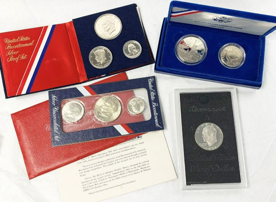 (4) UNITED STATES MINT SILVER PROOF SETS